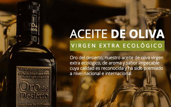Aceite de Oliva Virgen Extra Ecológico Oro del Desierto AOVE